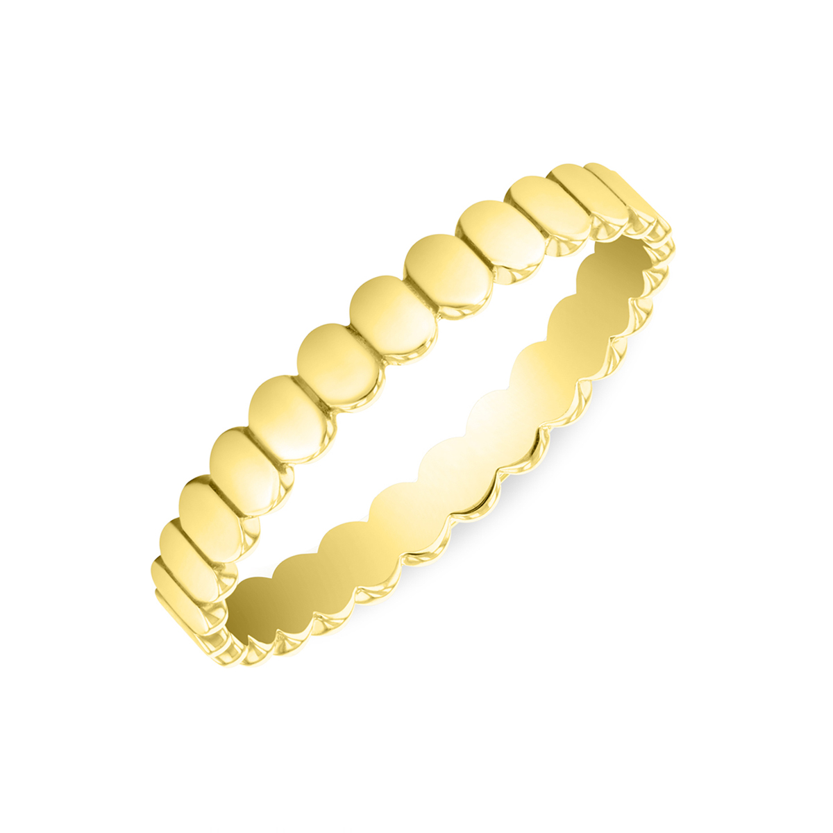 Soleil Collection Oval Disc Ring   9K Yellow Gold
