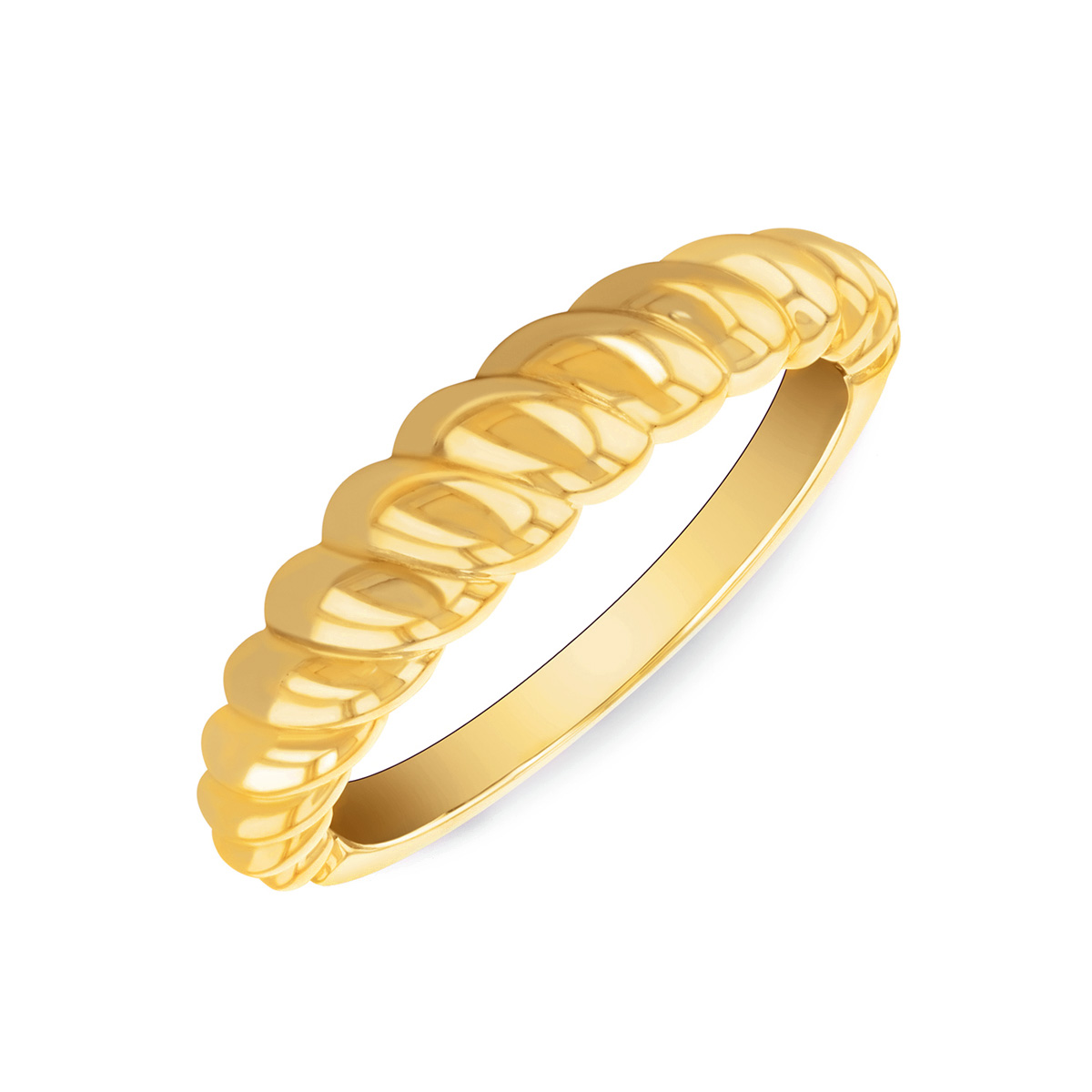 Soleil Collection Twist Ring   9K Yellow Gold