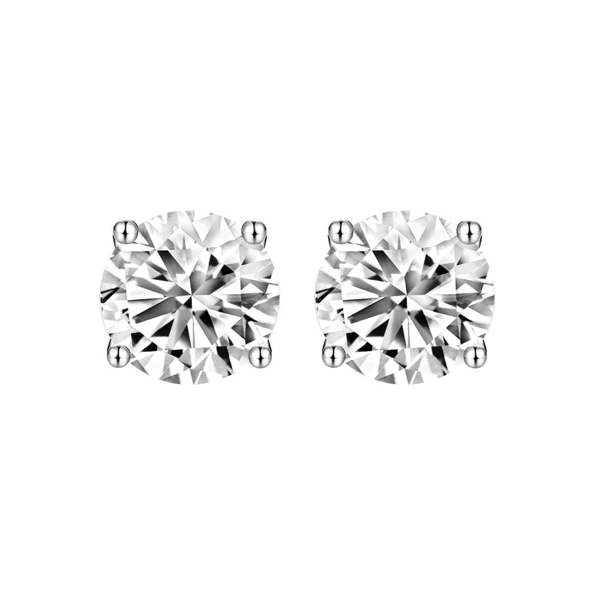 1.00ct tw. Diamond Stud Earrings | 18K White Gold