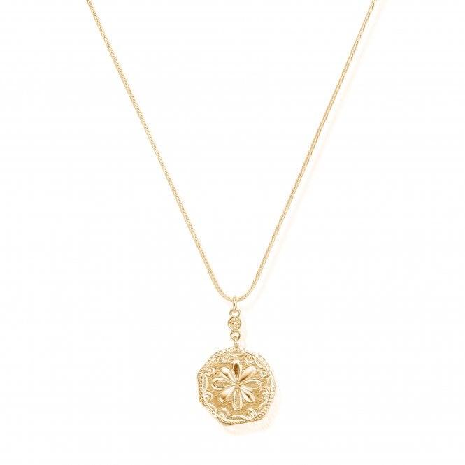 ChloBo Necklace Flower Coin Gold Pl GNCZS1016
