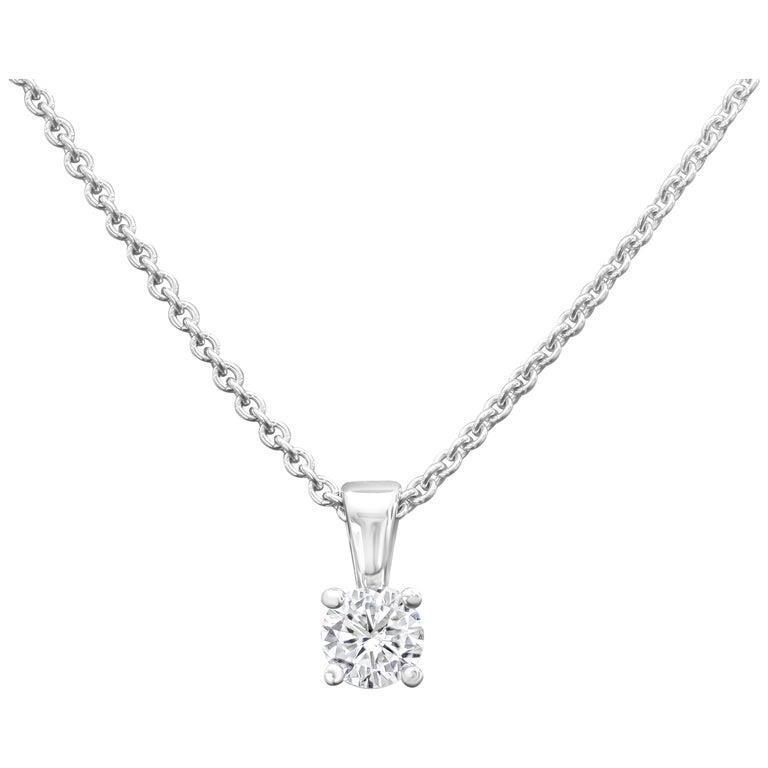 0.50ct Diamond Solitaire Pendant | 9K White Gold
