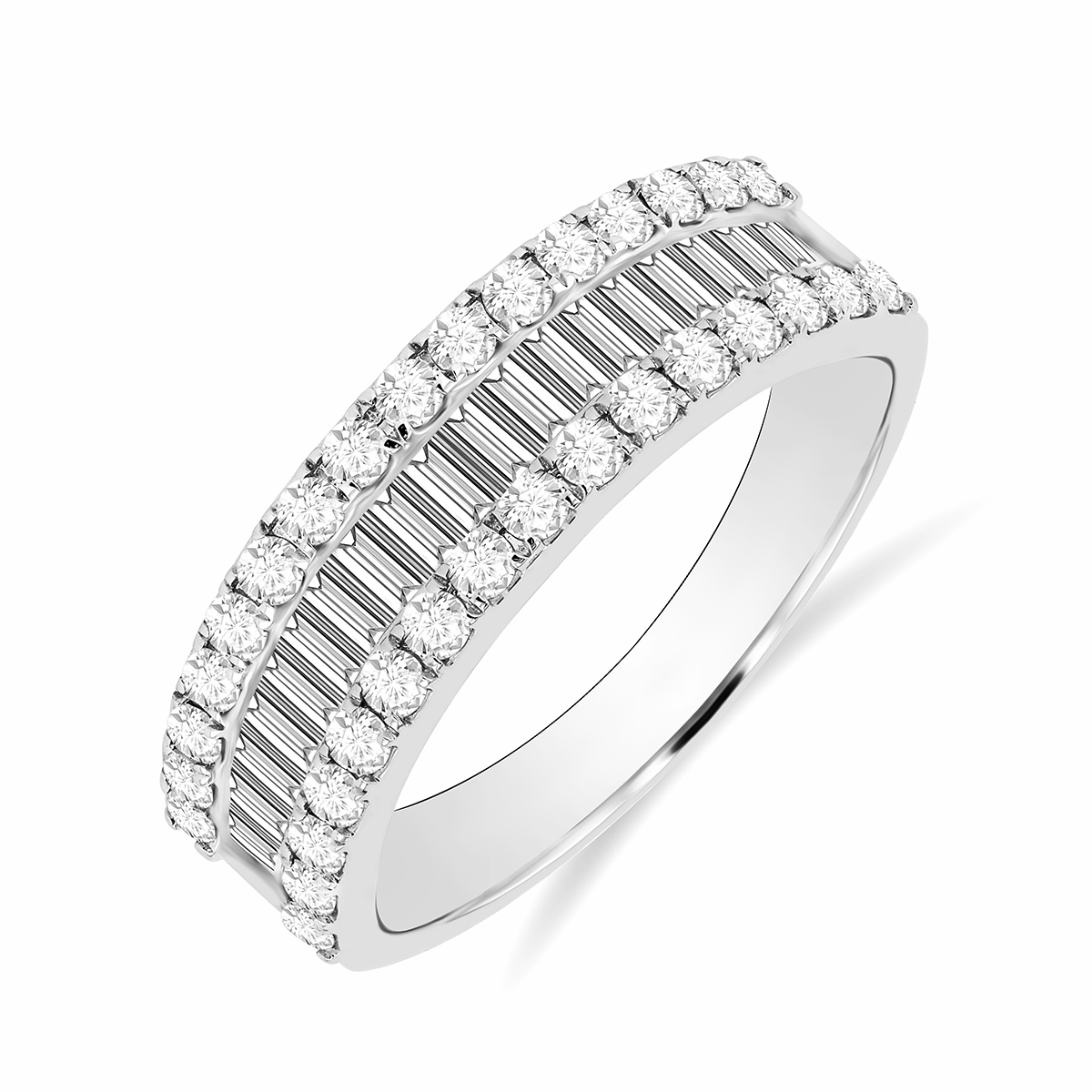 Radiance Collection 1.06ct Diamond & White Gold Half Eternity Ring