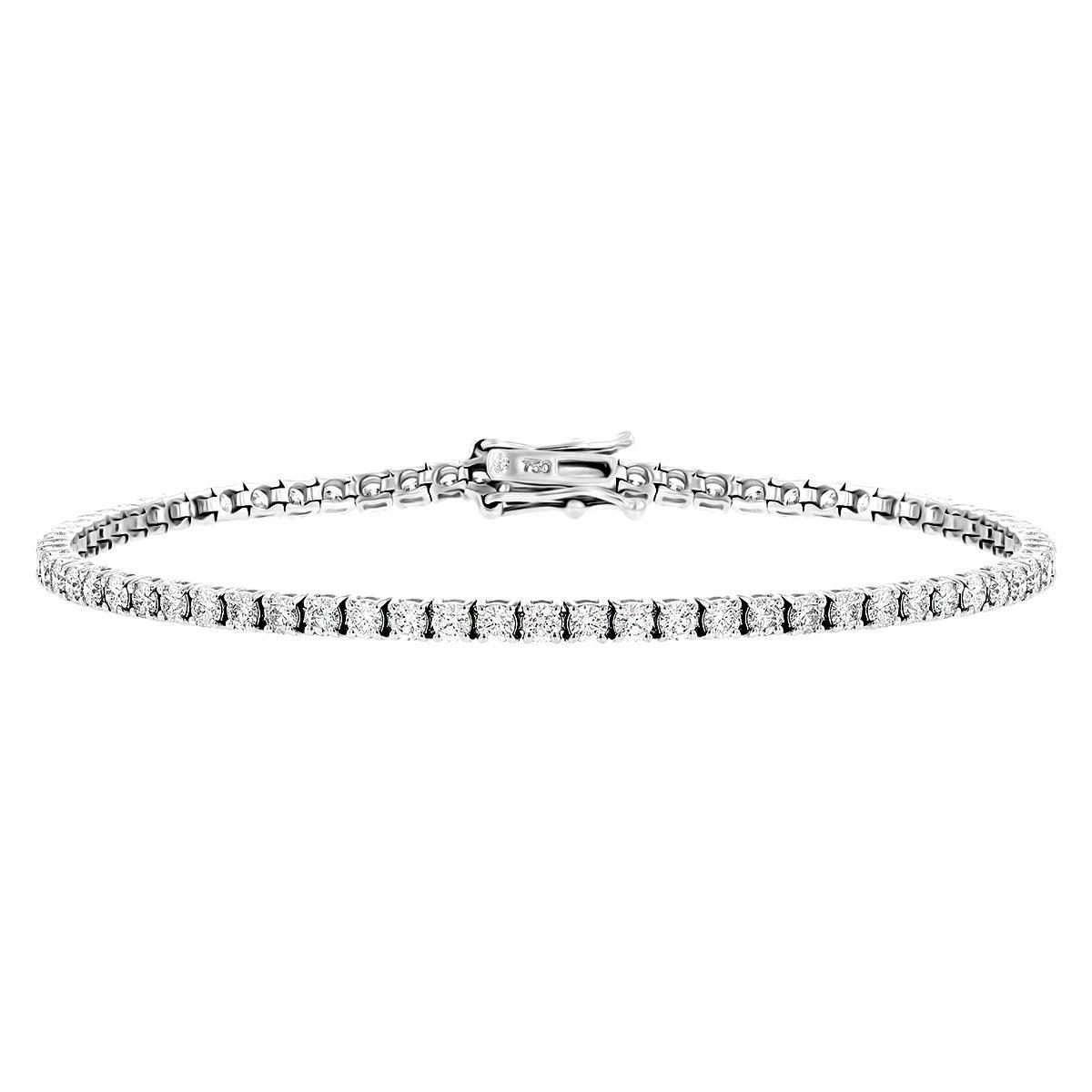 Radiance Collection 2.86ct Diamond Tennis Bracelet | 18K White Gold