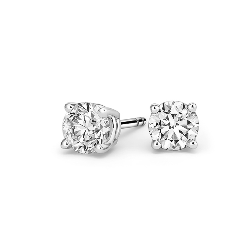 Radiance Collection 1.00ct tw. Diamond Stud Earrings | 18K White Gold