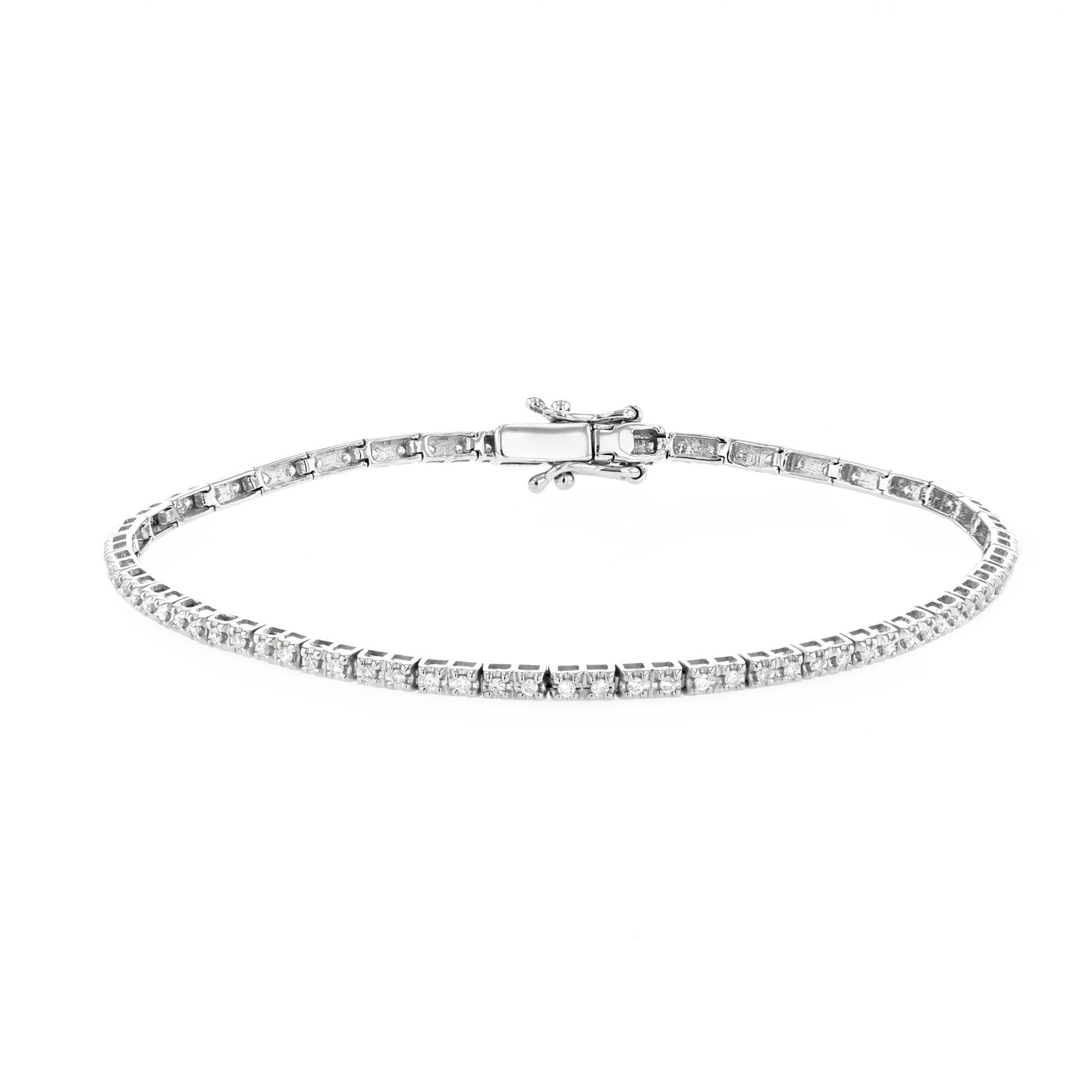 Radiance Collection 0.50ct Petite Diamond Tennis Bracelet | 9K White Gold