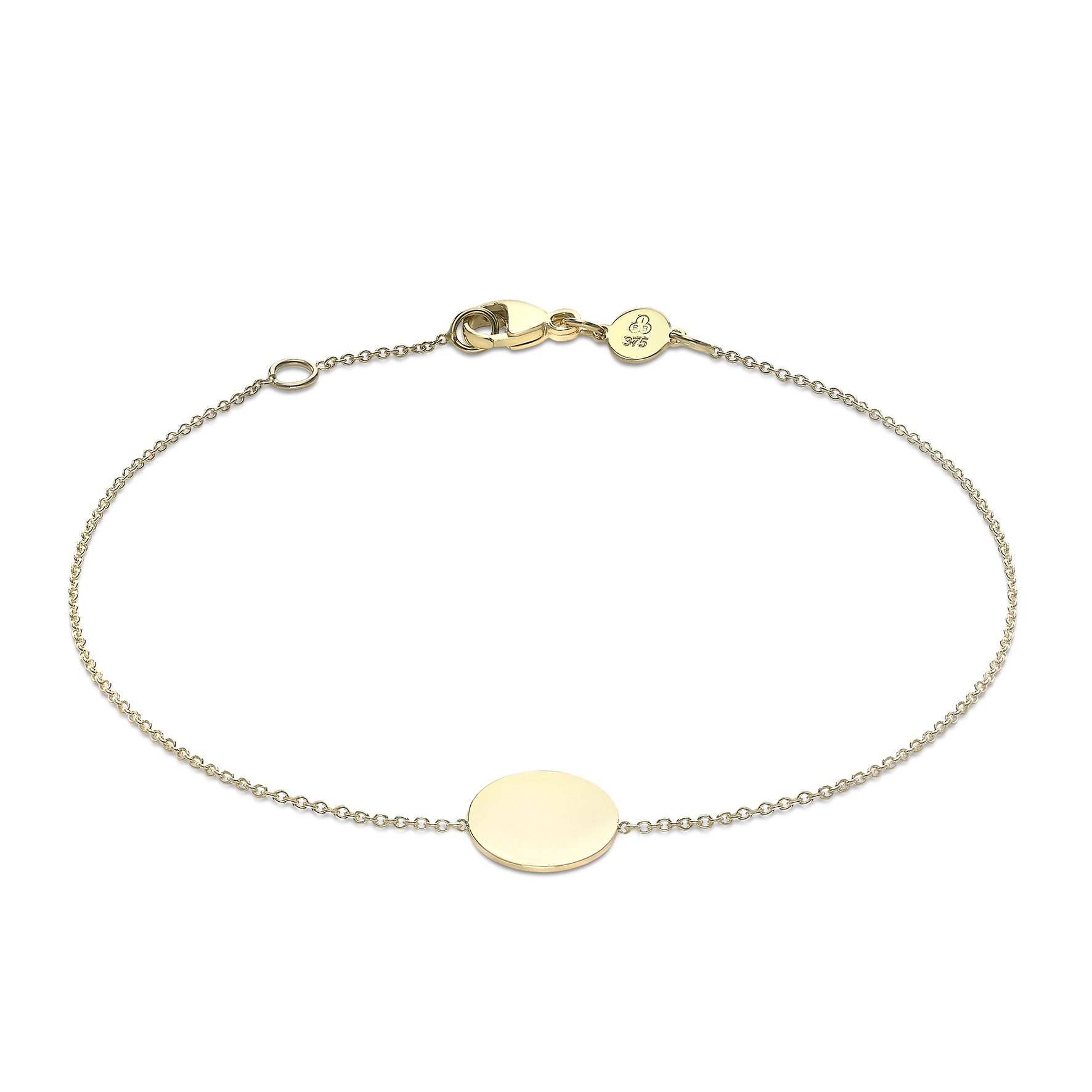 Soleil Collection Mini Disc Bracelet | 9K Yellow Gold
