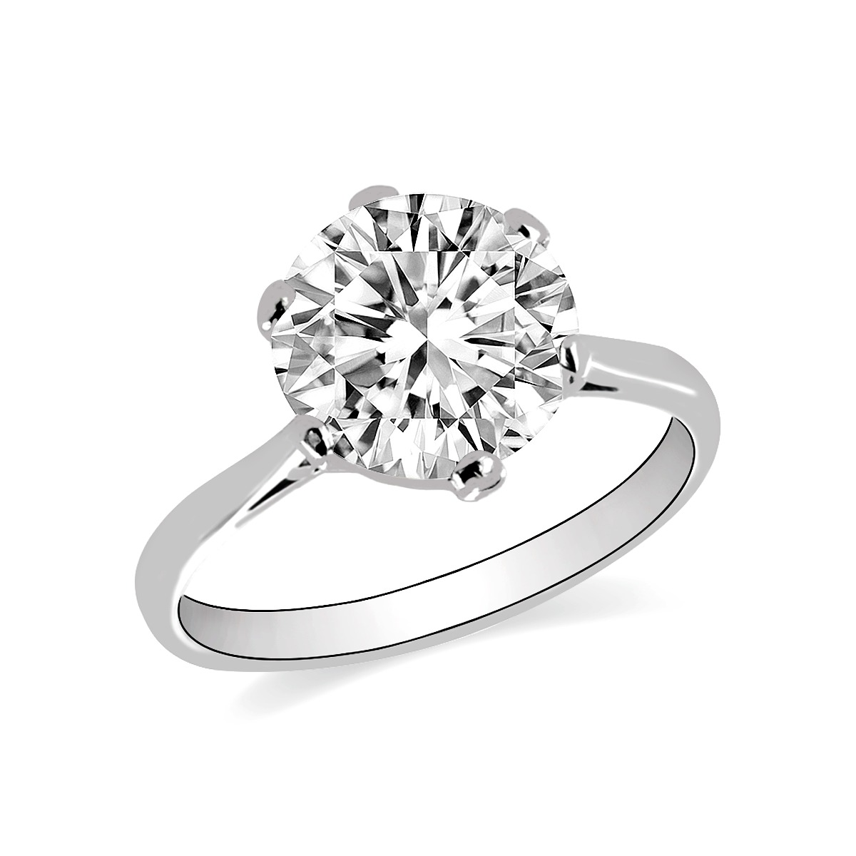 2.87ct Siena Diamond Solitaire Engagement Ring | G Colour | Platinum
