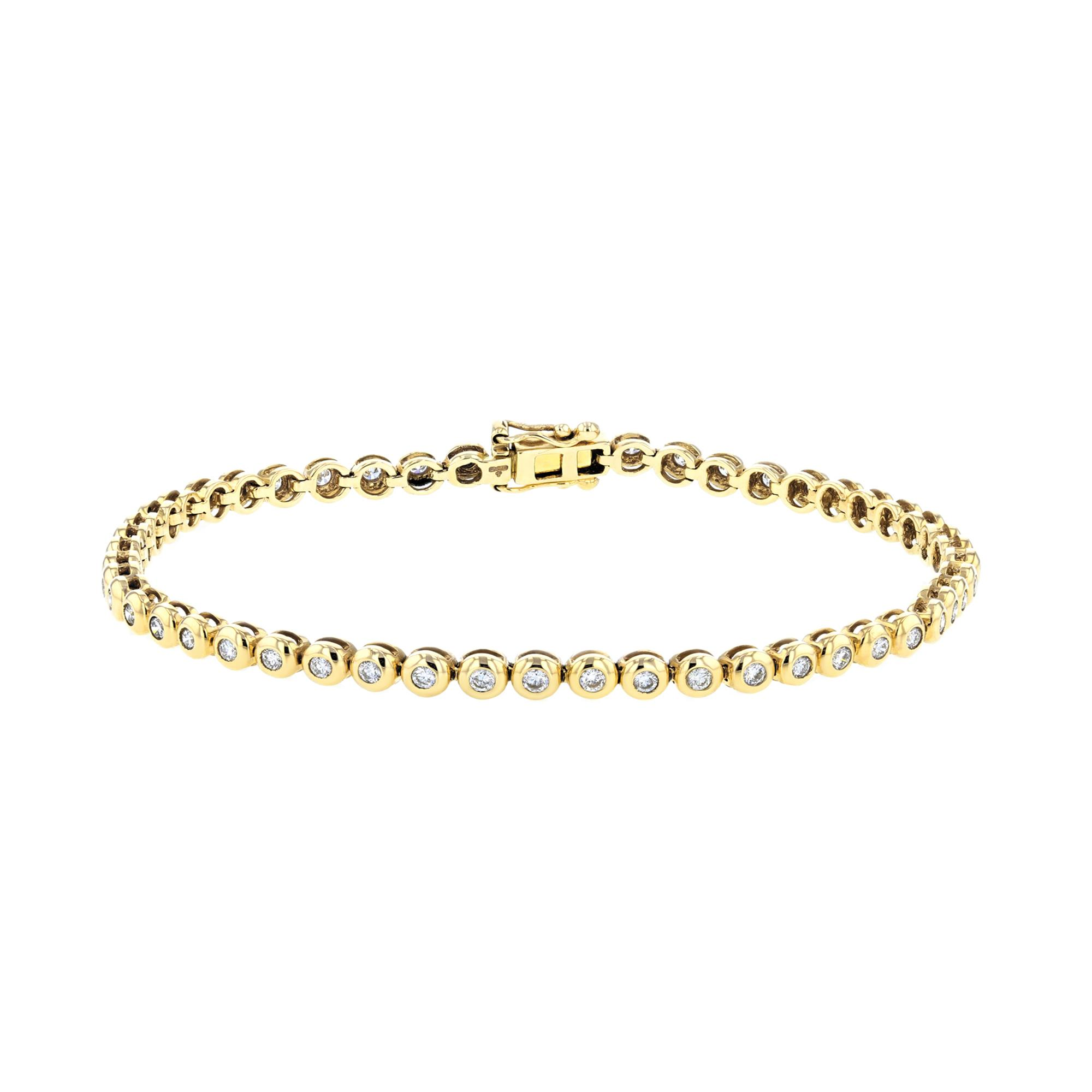 Radiance Collection 1.00ct Diamond Rubover Tennis Bracelet | 9K Yellow Gold