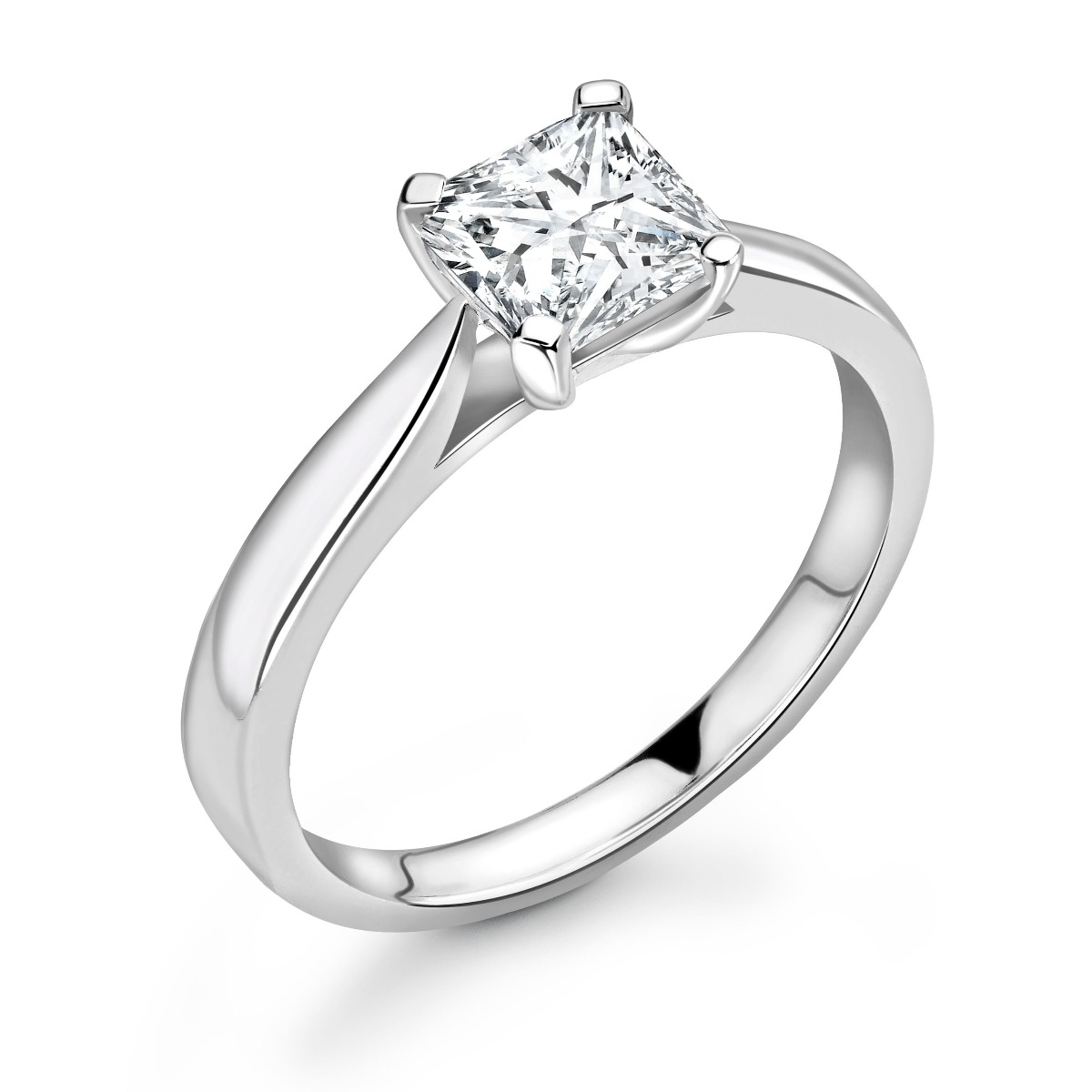 0.25ct Abigail Solitaire | Diamond Cushion Solitaire Engagement Ring | 18K White Gold