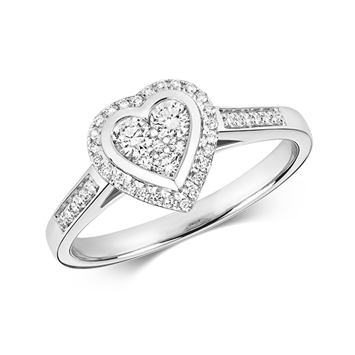 Ethereal 0.33ct Heart Halo   9K White Gold