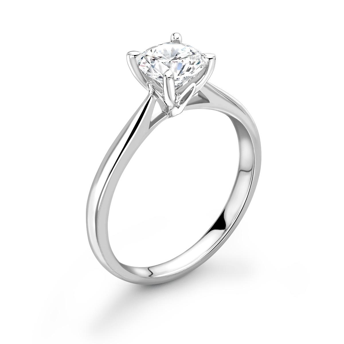0.50ct Isabella Solitaire | Diamond Round Solitaire Engagement Ring | Platinum